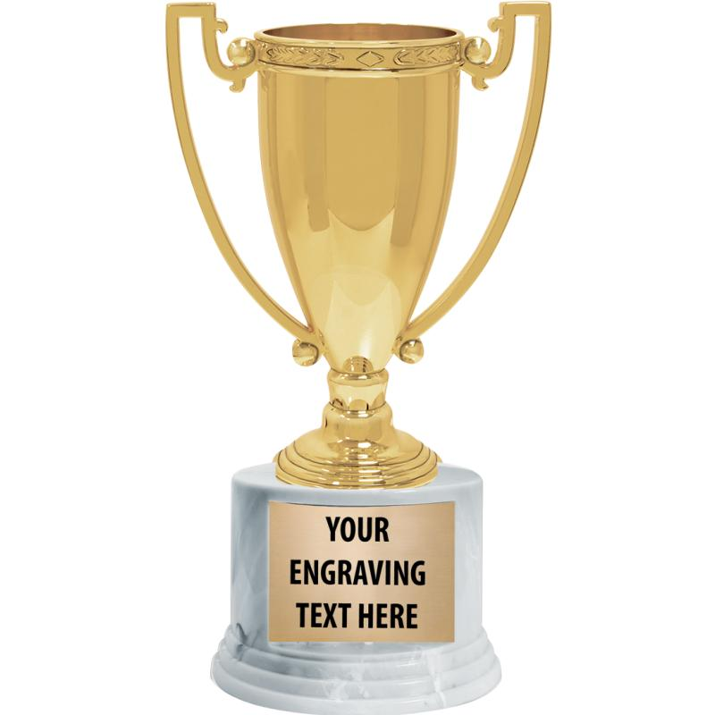 GOLD ZEAL METAL CUP TROPHY