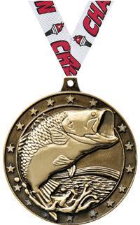 """2"""" Bass Federation 3D Diecast Medal"""