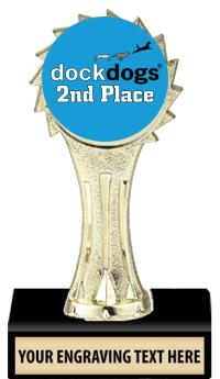 """6"""" DockDogs Gold Sunburst Insert Trophy"""