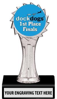 "6"" DockDogs Silver Sunburst Insert Trophy"