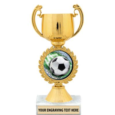 """7"""" Gold Insert Cup Trophy"""