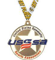 "2 1/2"" USSSA Diecast Star Medals"