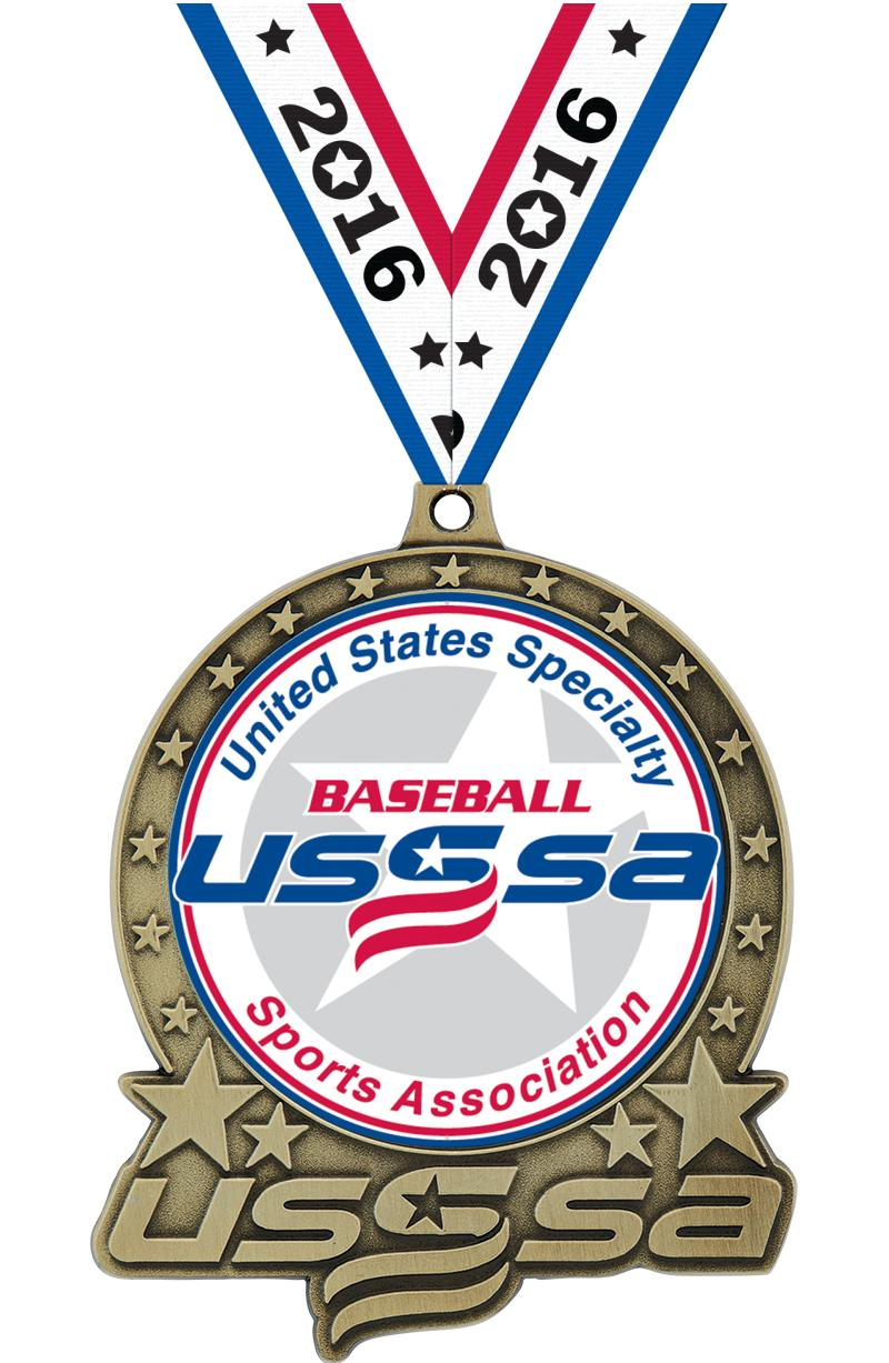 """3"""" USSSA Double Action Insert Medals"""