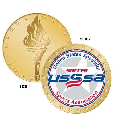 "1 1/2"" USSSA Torch Coin"