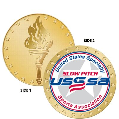 "1 1/2"" USSSA Torch Coin"