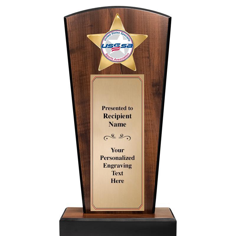USSSA Broadway Wood Insert Trophy