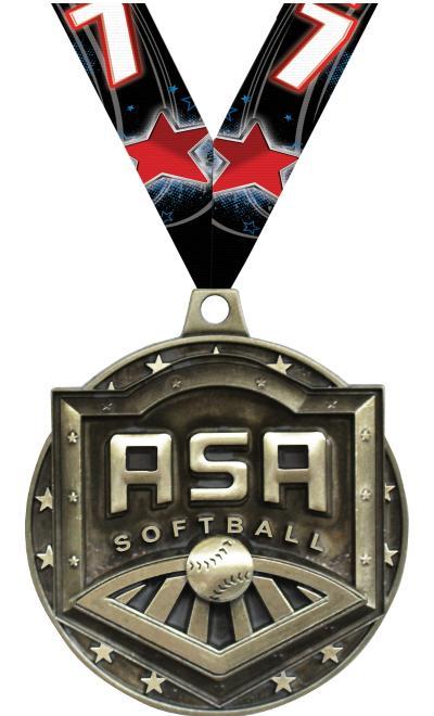 """2"""" 3D ASA Medals"""