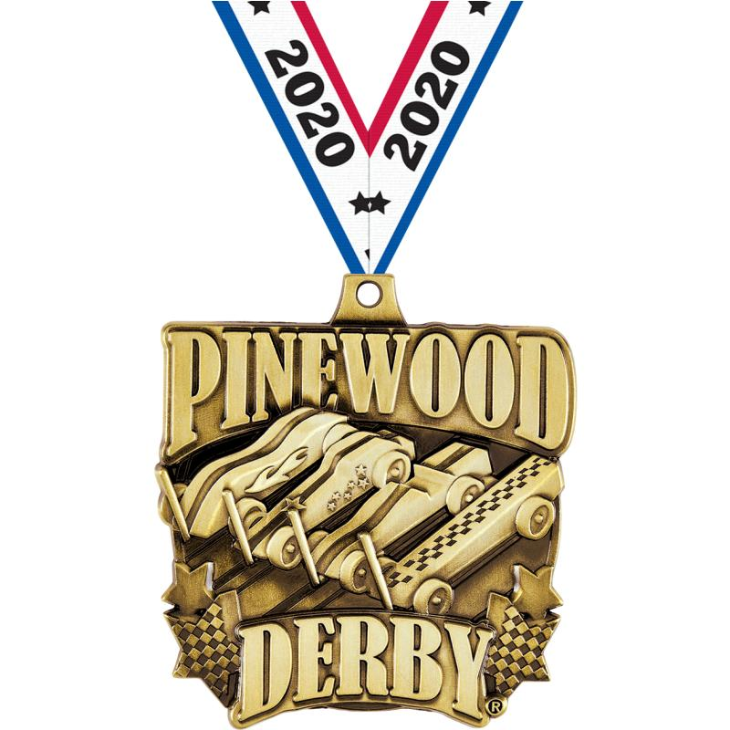 "2""PINEWOOD DERBY RACE GOLD MDL"