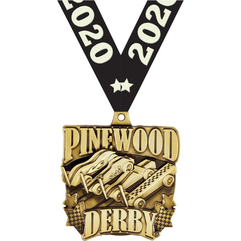 "2""PINEWOOD DERBY RACE GOLD MDL"
