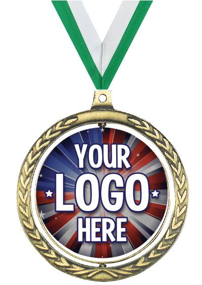 """2 1/2"""" Spin Wreath Medal"""