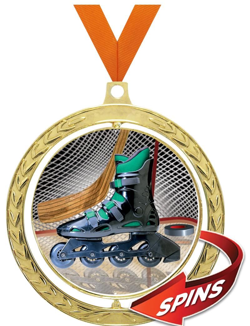 "2 1/2"" Spin Wreath Sport Medal"