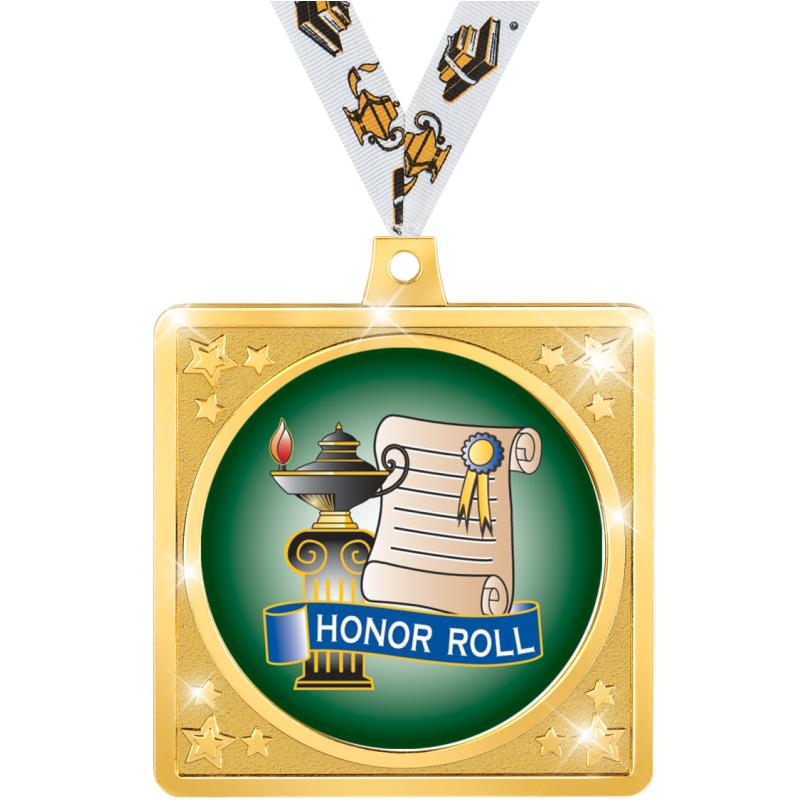 """2.5""""SQUARE CRAFTER MEDAL GOLD"""