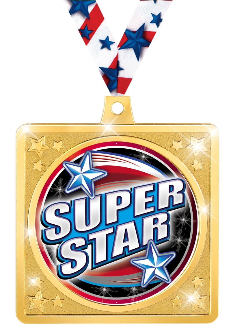"2 1/2"" Square Crafter Sport Medal"