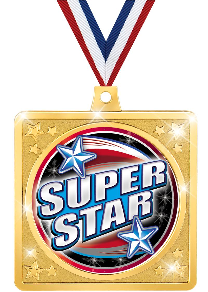 """2 1/2"""" Square Crafter Sport Medal"""
