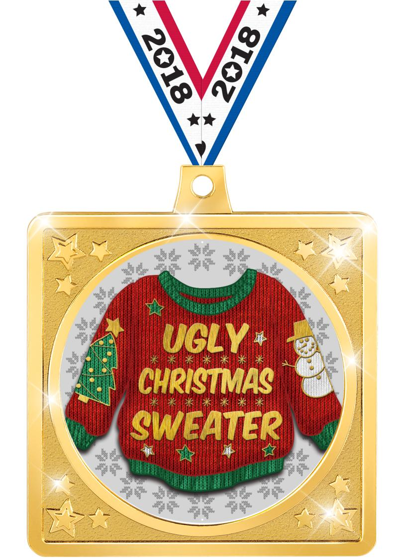 "2.5""SQUARE CRAFTER MEDAL GOLD"