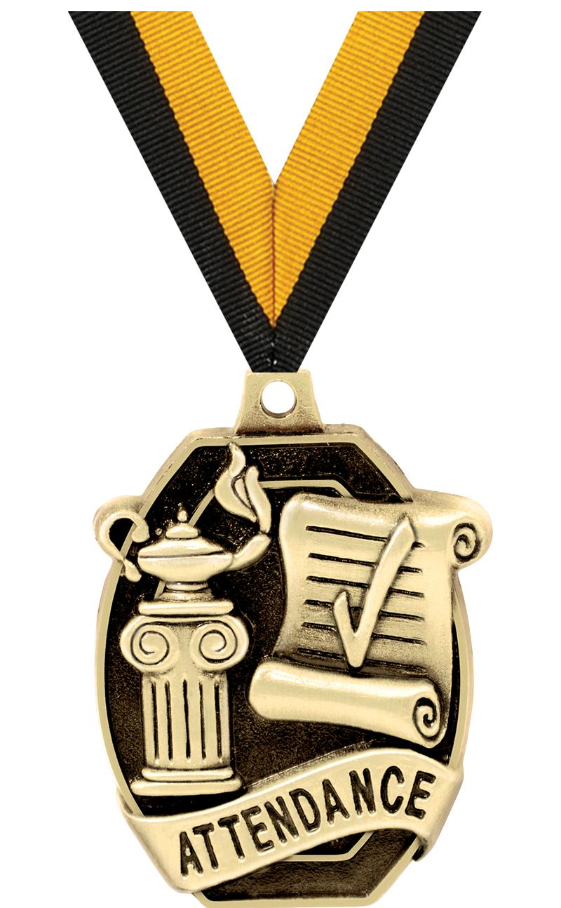 "2"" SCHOLASTIC-ATTENDANCE MEDAL"