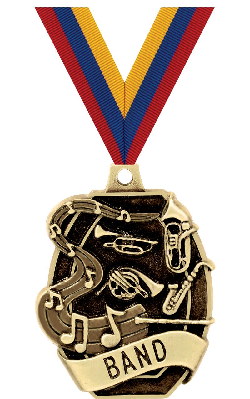 "2"" SCHOLASTIC - BAND MEDAL"