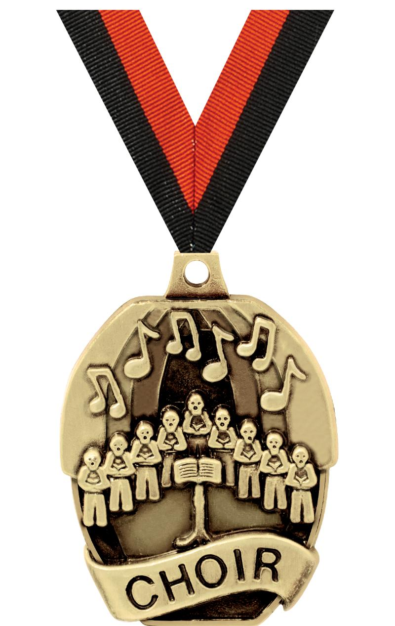 "2"" SCHOLASTIC - CHOIR MEDAL"