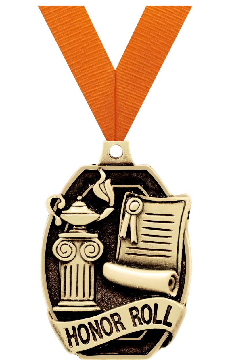 """2"""" SCHOLASTIC-HONOR ROLL MEDAL"""