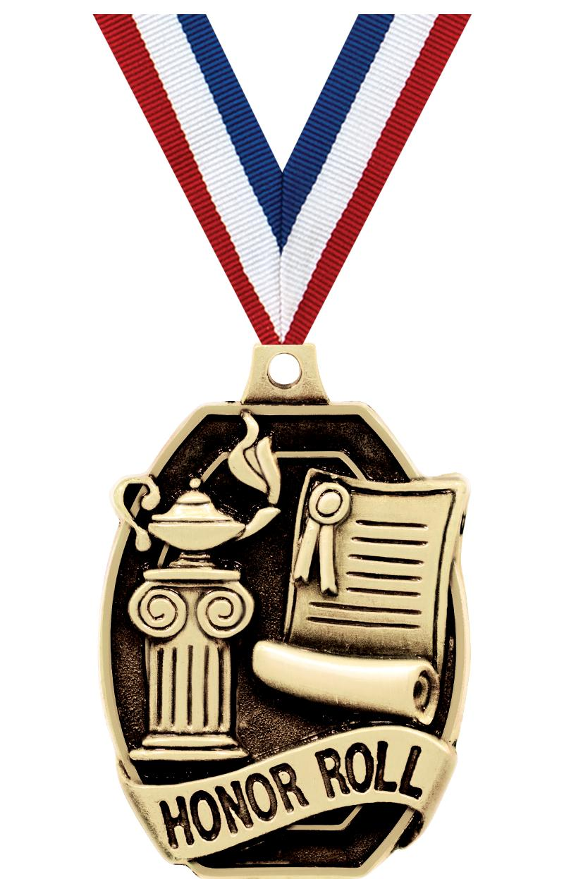 "2"" SCHOLASTIC-HONOR ROLL MEDAL"