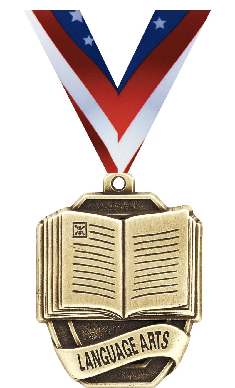 "2""SCHOLAST LANGUAGE ARTS MEDAL"