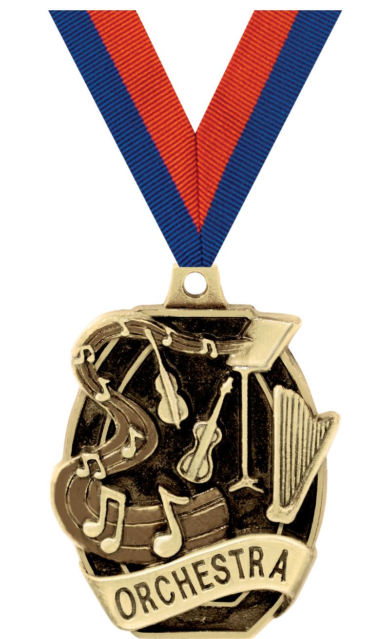 "2"" SCHOLASTIC- ORCHESTRA MEDAL"