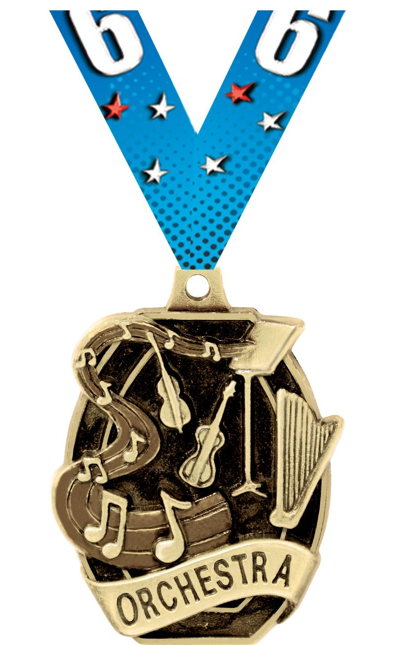 """2"""" SCHOLASTIC- ORCHESTRA MEDAL"""