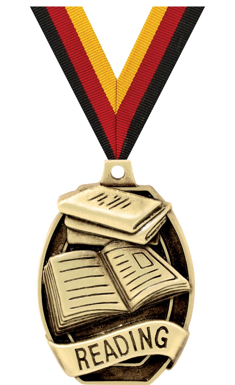 """2"""" SCHOLASTIC-READING MEDAL"""