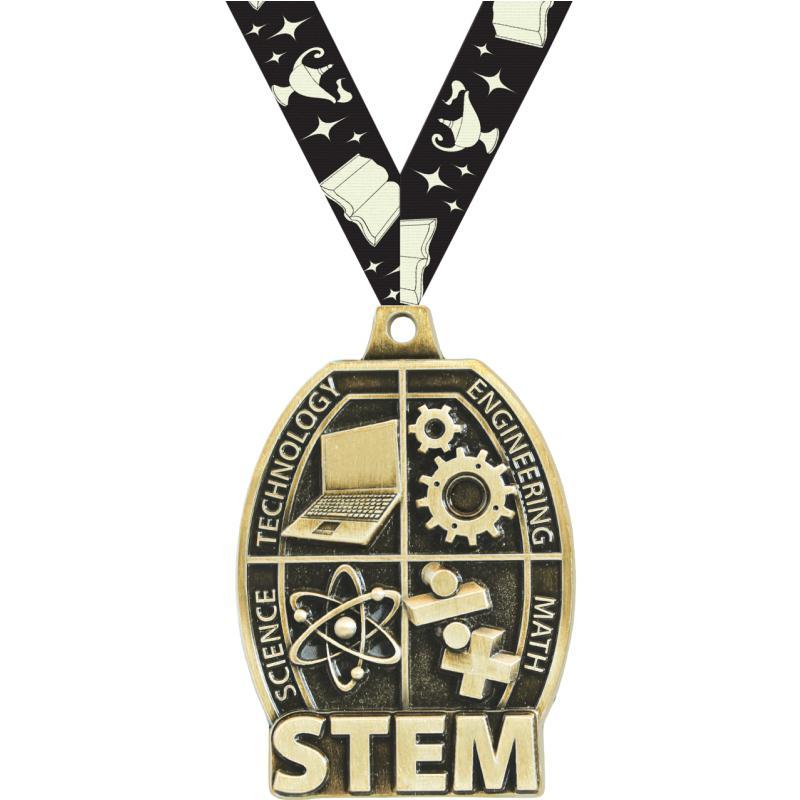 "2"" SCHOLASTIC-STEM GOLD MEDAL"