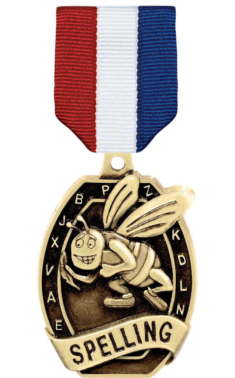 "2"" SCHOLASTIC - SPELLING MEDAL"