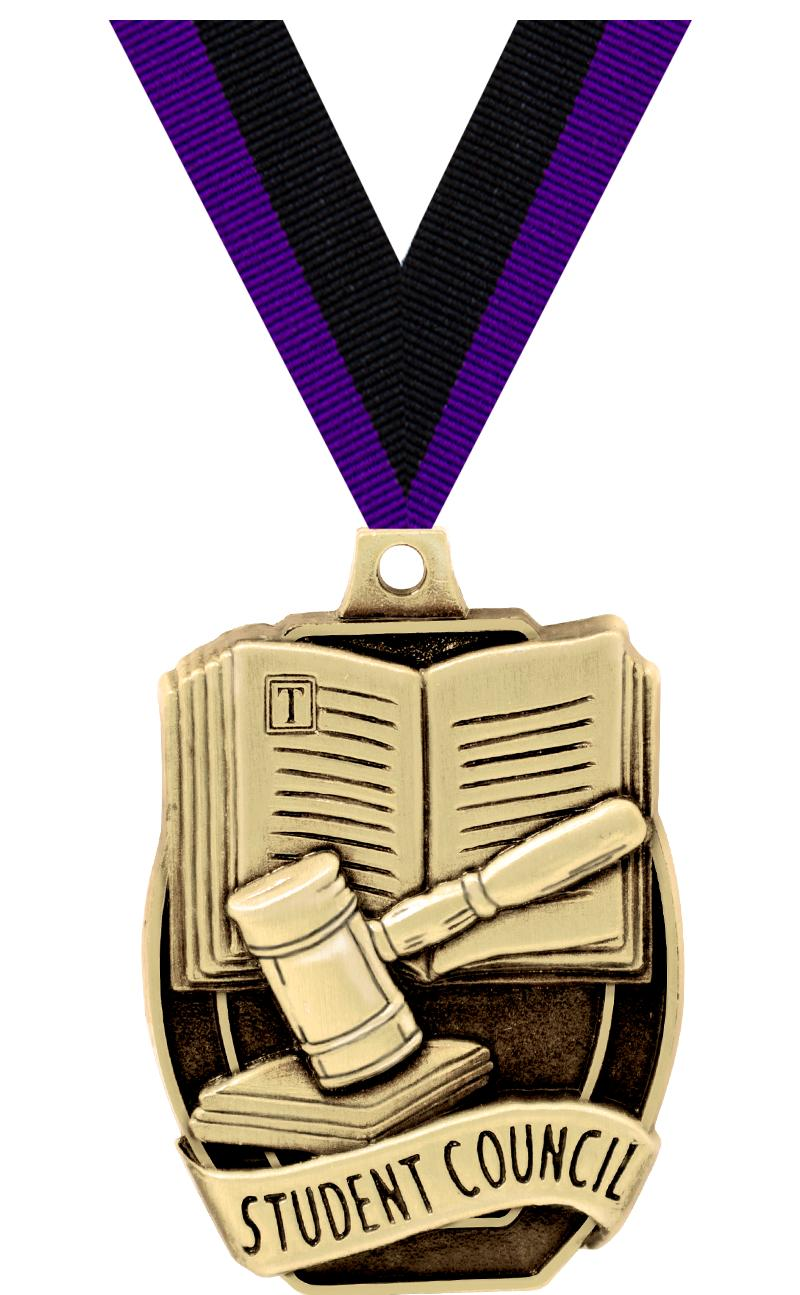 "2""SCHL STUDENT COUNCIL MEDAL"