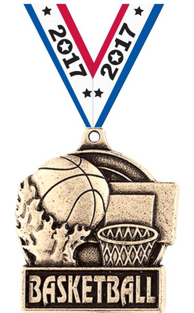 "1 3/4"" Basketball Medals"
