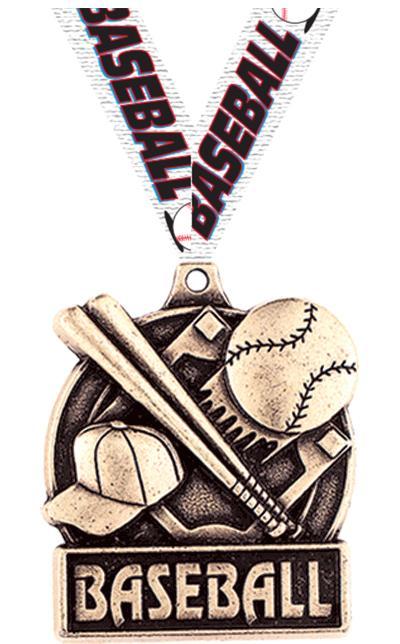 "1 3/4"" Baseball Medals"