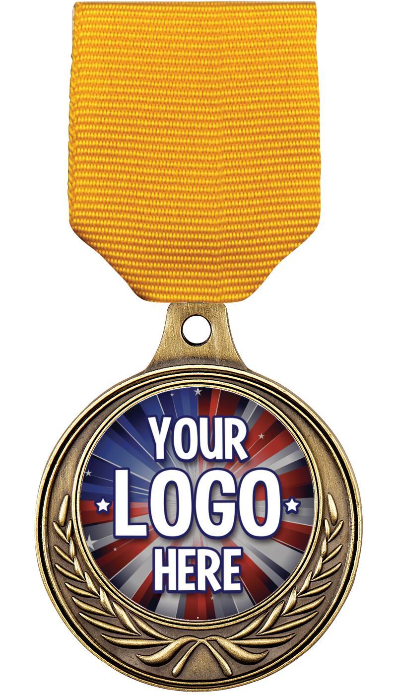 "1 1/2"" Euro Wreath Medal"