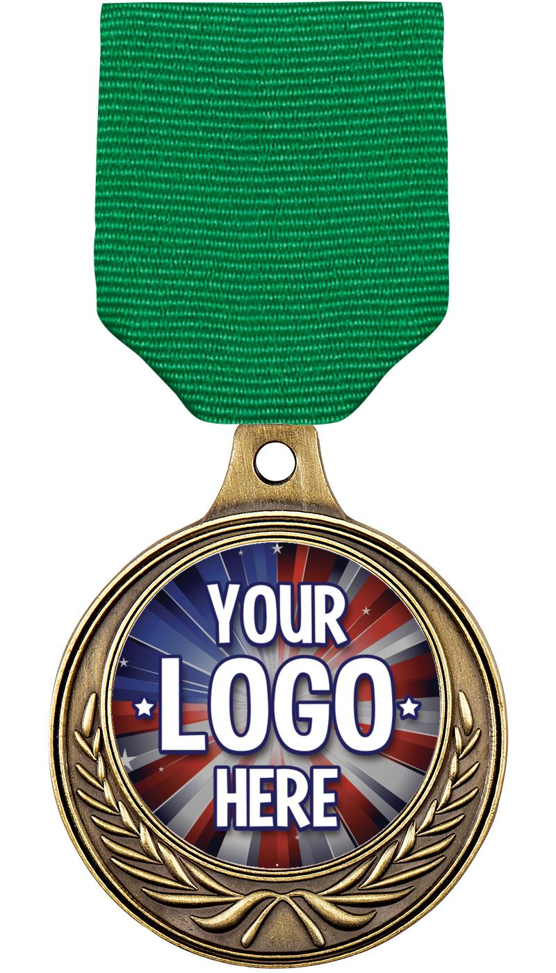 "1 1/2"" Euro Wreath Medal"