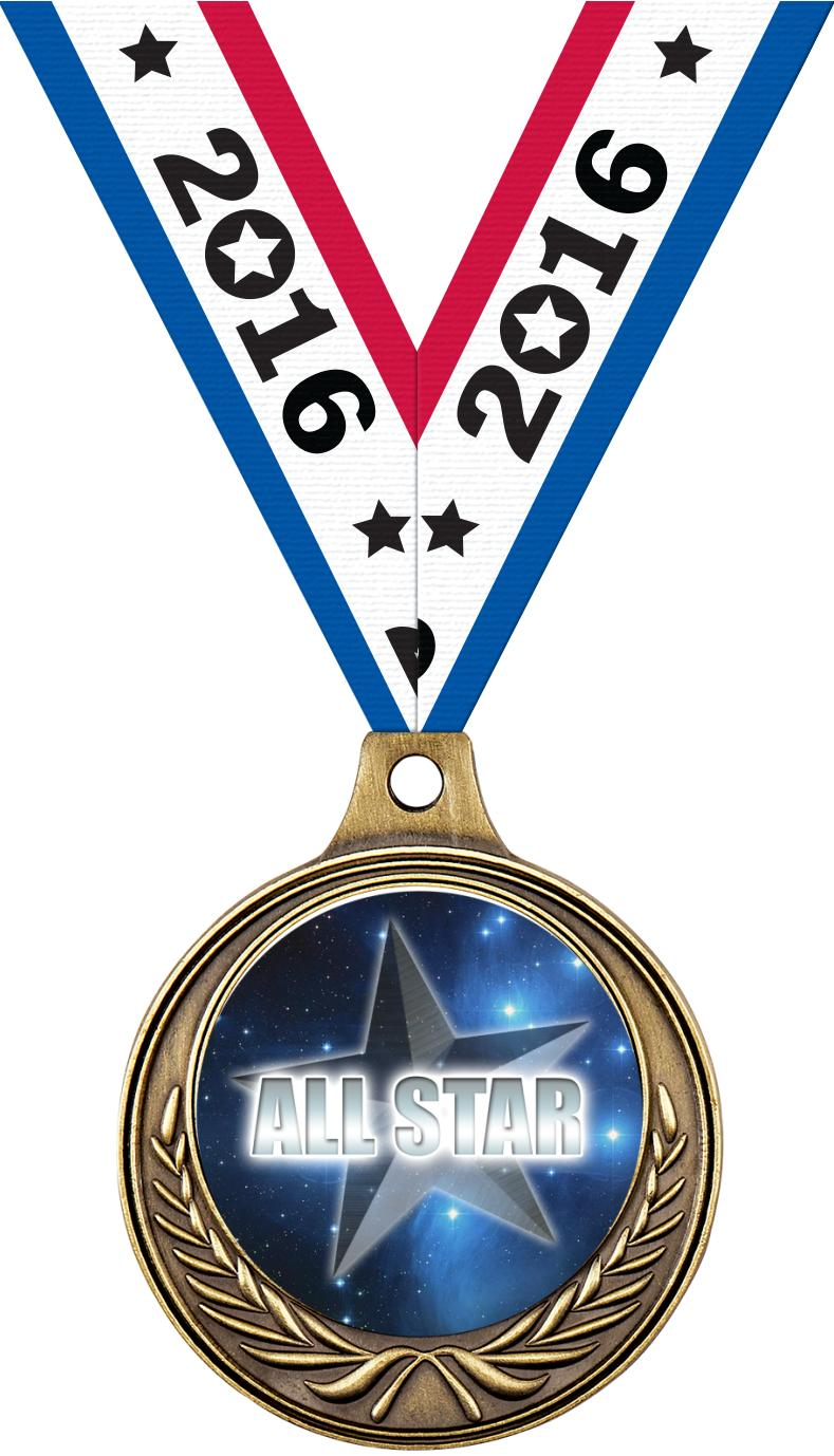 "1 1/2"" Star Medals"