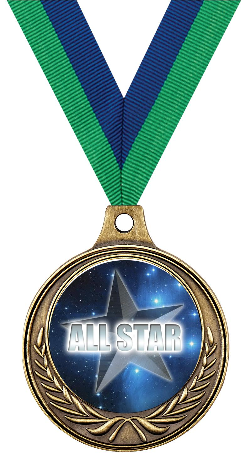 """1 1/2"""" Star Medals"""
