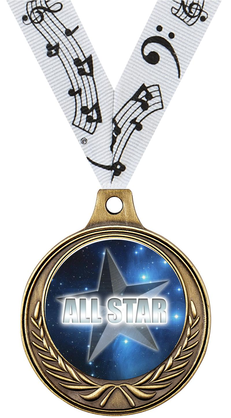 "1 1/2"" Music Medals"