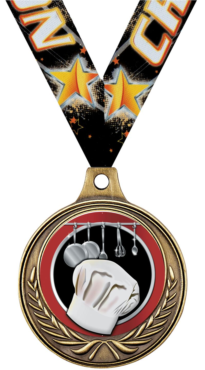 "1 1/2"" Cooking Medals"
