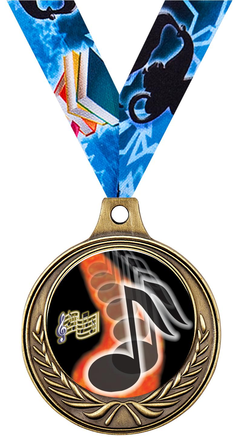 """1 1/2"""" Music Medals"""