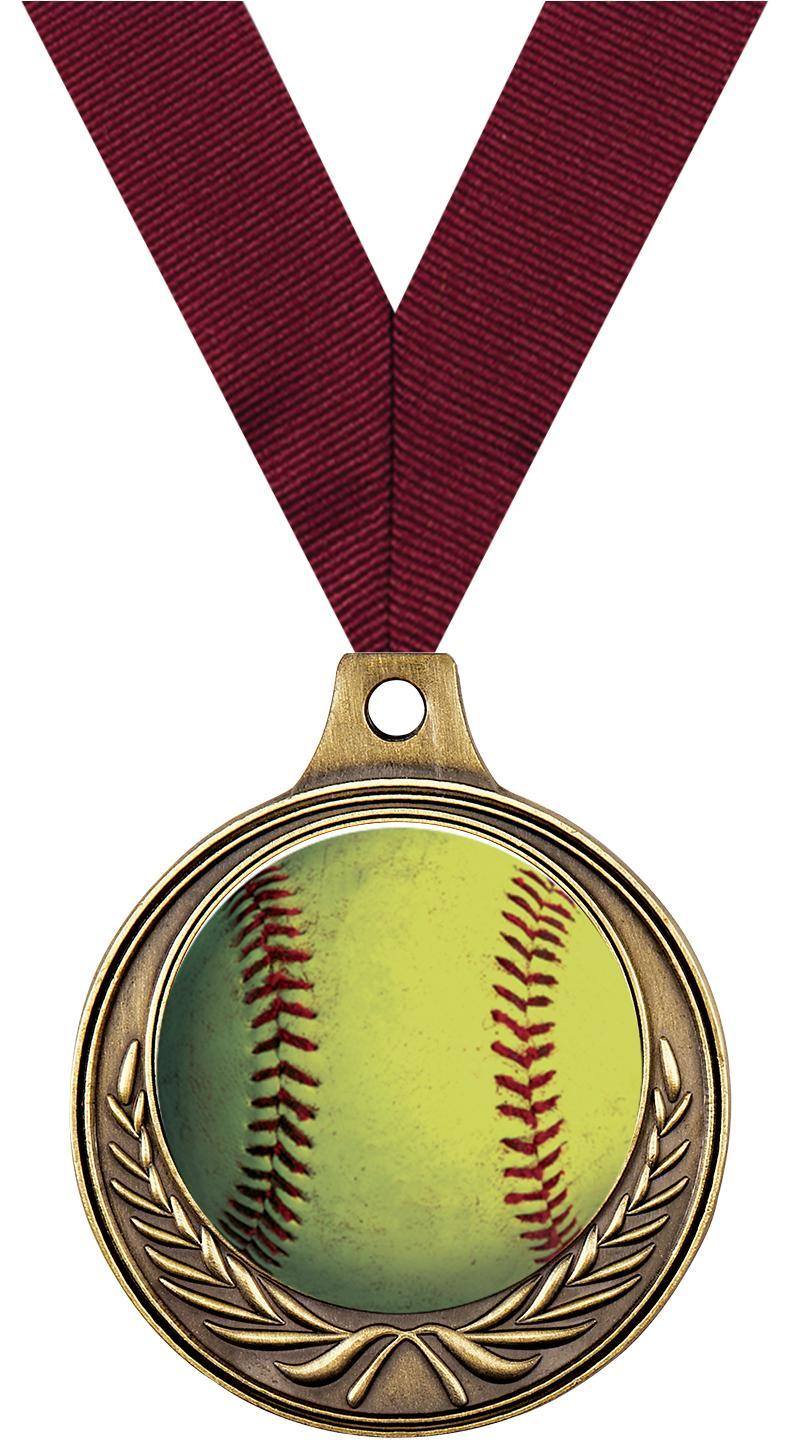 "1 1/2"" Softball Medals"