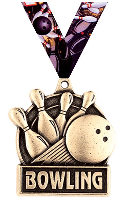 """1 3/4"""" Bowling Medals"""
