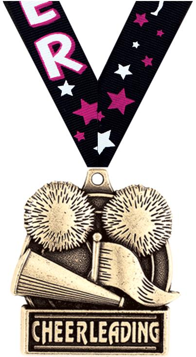 "1 3/4"" Cheerleading Medals"