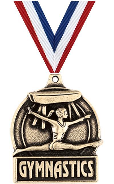 "1 3/4"" Female Gymnastics Medals"