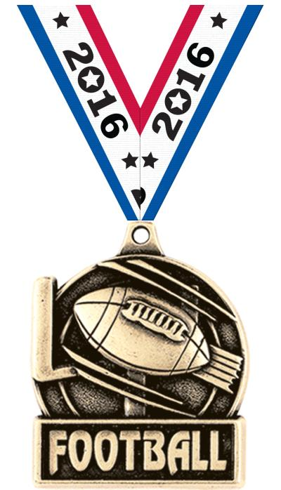"1 3/4"" Football Medals"
