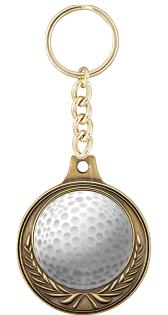 "1.5"" EURO WREATH GOLF GLD MDL"