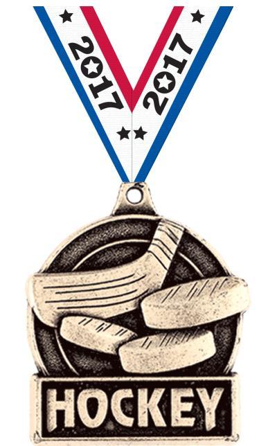 """1 3/4"""" Hockey Medals"""
