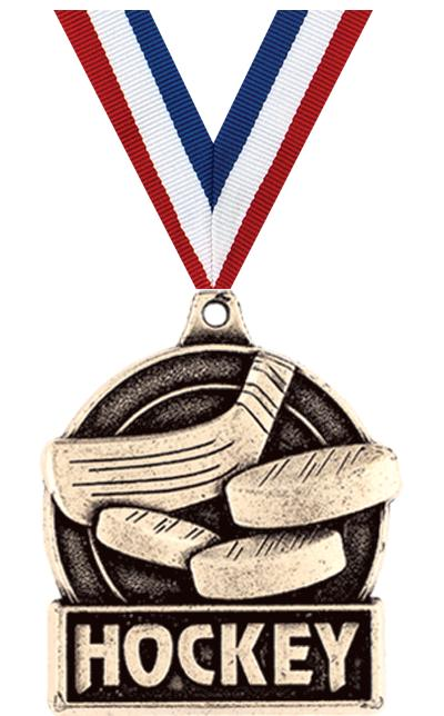 "1 3/4"" HOCKEY MEDAL GOLD"