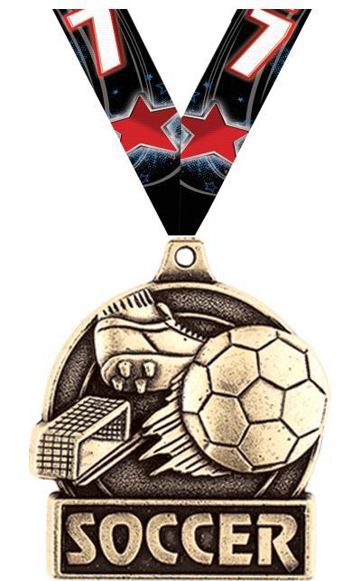 """1 3/4"""" Soccer Medals"""