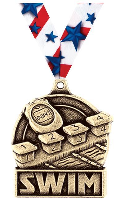 """1 3/4"""" Swim Medals"""
